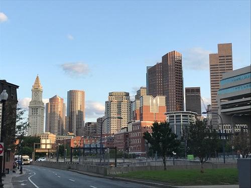 Boston downtown view south