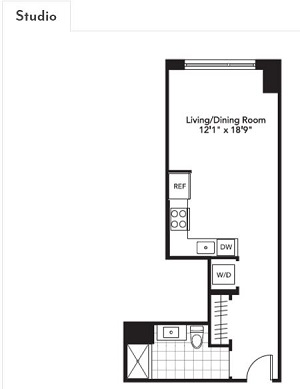 BEVERLY Studio floorplan